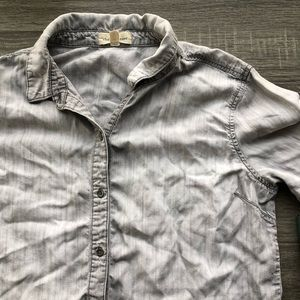 Anthropologie Cloth & Stone Button Down, Grey, M